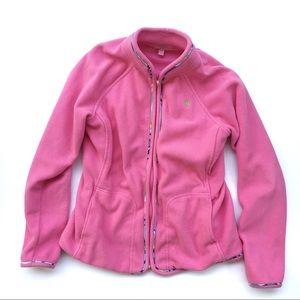 Lily Pulitzer | Soft pink fleece jacket XS